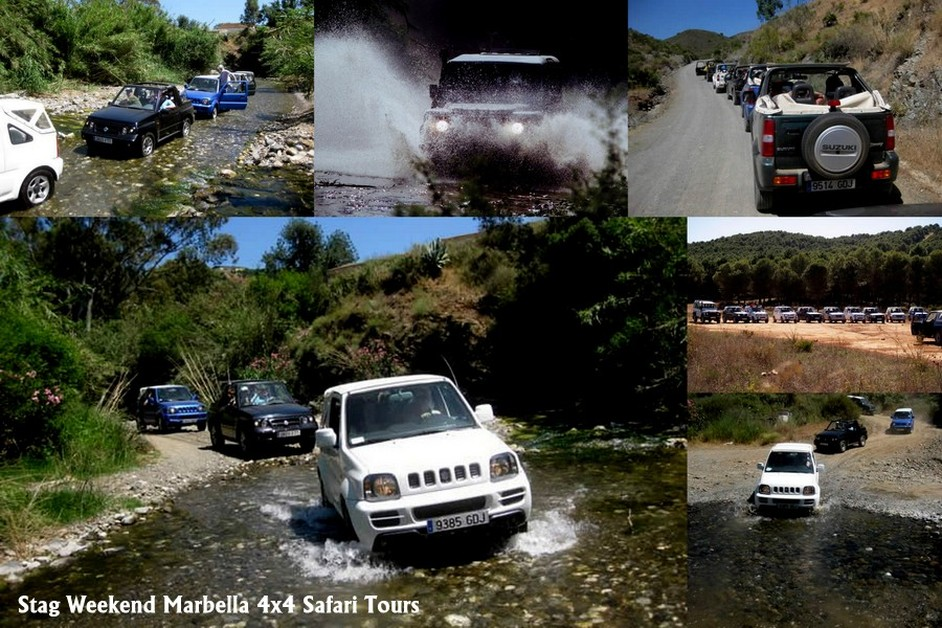 Stag Weekends Marbella 4x4 Guided Safari tours, Costa del Sol, Spain, Andalucia