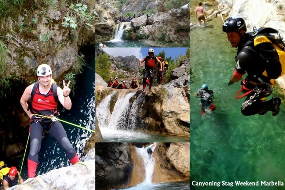 Stag Weekend, Canyoning in Marbella, Costa del Sol, Stag Events and Stag activities